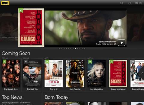 IMDb 3.0 iPad film en serie-app