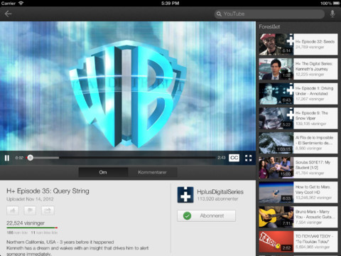 Beste iPad-apps 2012 YouTube