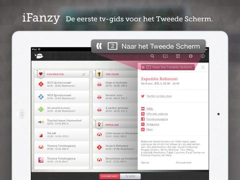 Beste iPad-apps 2012 iFanzy tv-gids