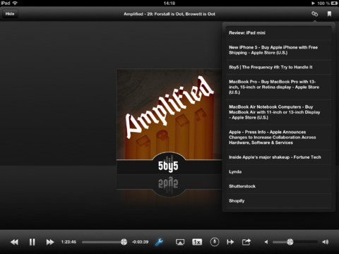 Instacast iPad player