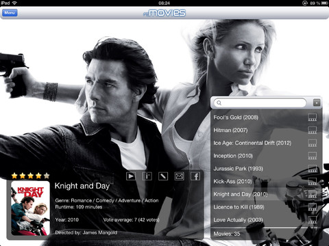 Rsmovies and series iPad Knight and Day