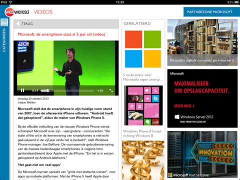 Webwereld header iPad-app