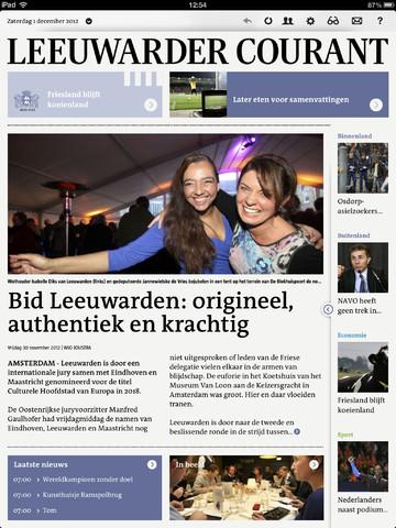 LC HD Leeuwarder Courant voorpagina