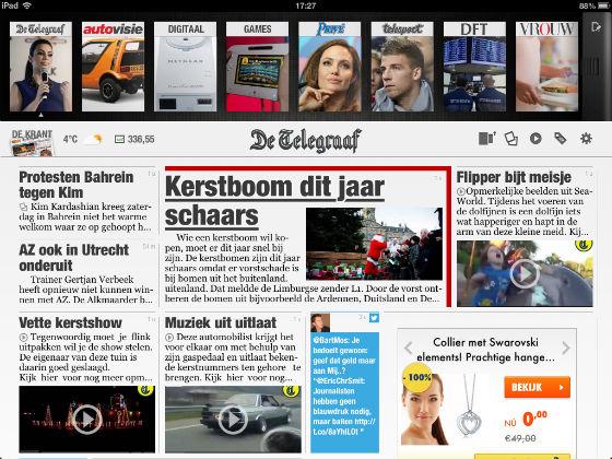 Telegraaf HD voorpagina