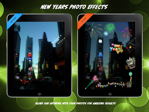 new years photo effects