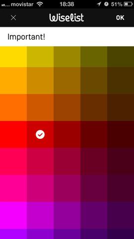 Wiselist kleur toekennen aan categorie