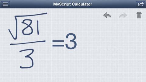 MyScript Calculator rekenmachine