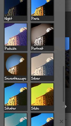 CameraBag 2 filters kiezen