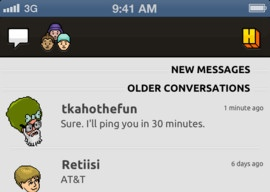Pocket Habbo chat-app Habbo Hotel iPhone iPod touch
