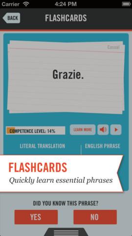 TripLingo flashcards leren