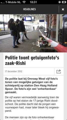 RTL Nieuws Mobile iPhone nieuwsbericht