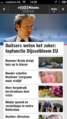 RTL Nieuws Mobile headlines