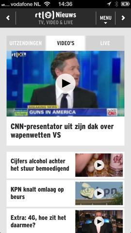 RTL Nieuws Mobile video's