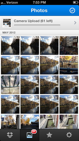 Dropbox foto's uploaden en bekijken
