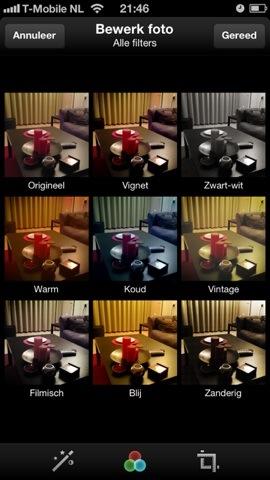Twitter filters op foto's selecteren