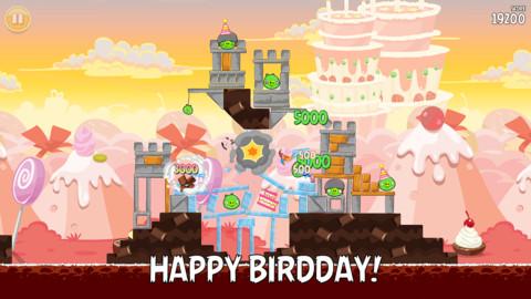 Angry Birds Happy Birdday iPhone