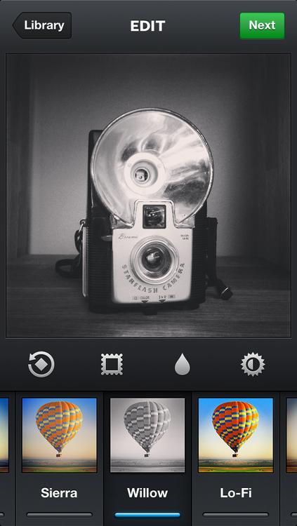 Willow-filter in Instagram 3.2