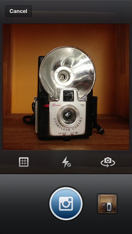 Nieuwe cameraweergave in Instagram 3.2