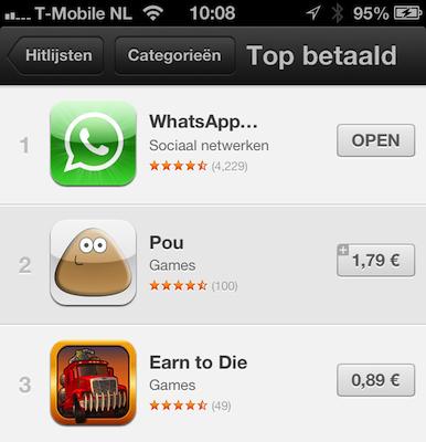 App Store hitlijst