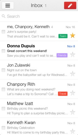 Gmail 2.0 inbox