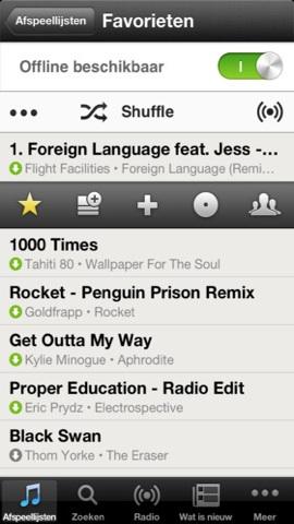 Beste muziek-apps iPhone Spotify