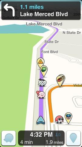Beste iPhone apps Waze screenshot