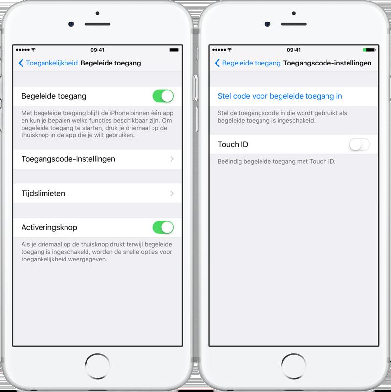Thuisknop blokkeren op iPhone en iPad