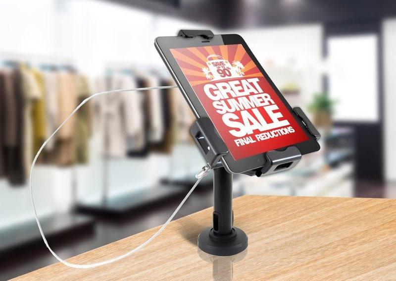 iPad-houder in een winkel