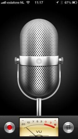 Skeuomorfisme microfoon