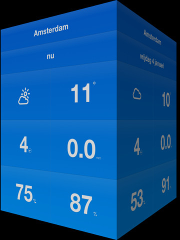 Weathercube header iPad