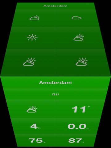 Weathercube groen Amsterdam
