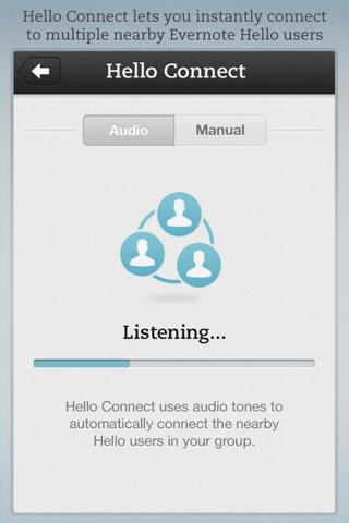 Evernote Hello audio tones uitzenden