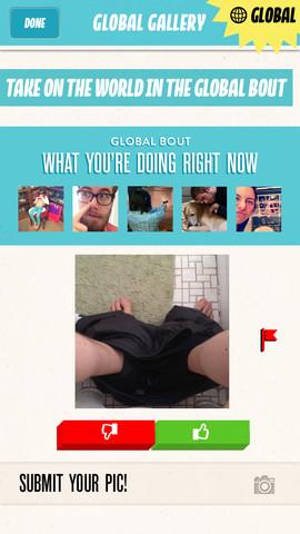 Bout wereldwijde wedstrijd op iPhone