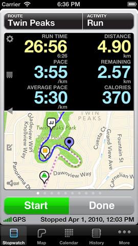 Runmeter iPhone app bijgewerkt versie 9.0