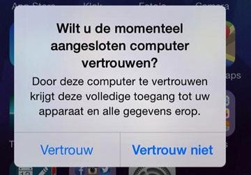 iOS 7 vertrouw computer