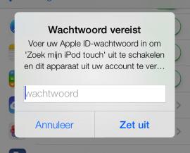 Zoek mijn iPhone iOS 7