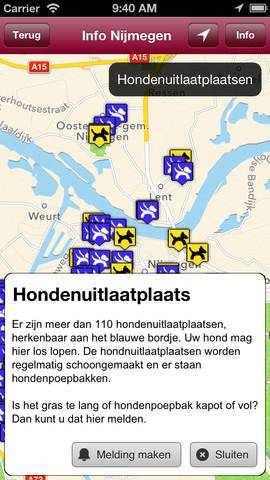Bel Herstel hondenuitlaatplaatsen iPhone