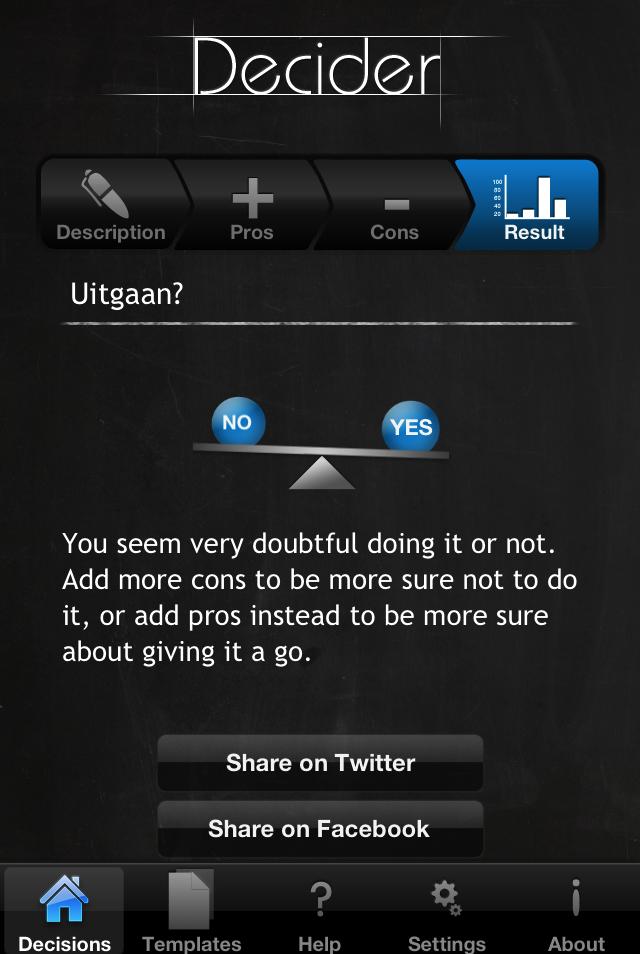Decider screenshot