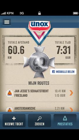 Unox Schaatsapp medaille
