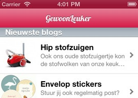 GewoonLeuker header iPhone-app