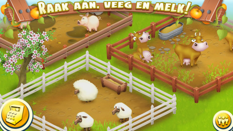 Hay Day dieren in de wei iPhone