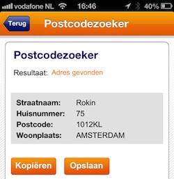 postnl postcodezoeker