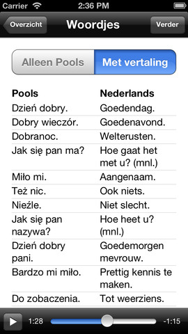 Ik Spreek Pools uitdrukkingen