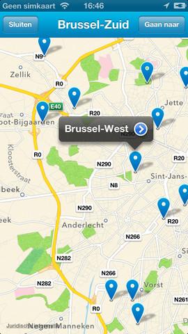 RailTime informatie op kaart