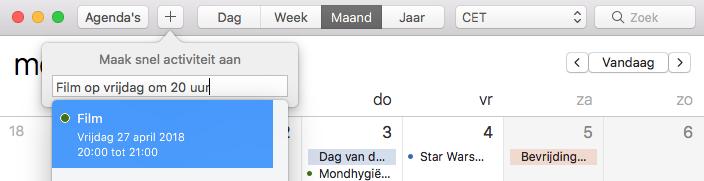 Snel afspraak maken op Mac