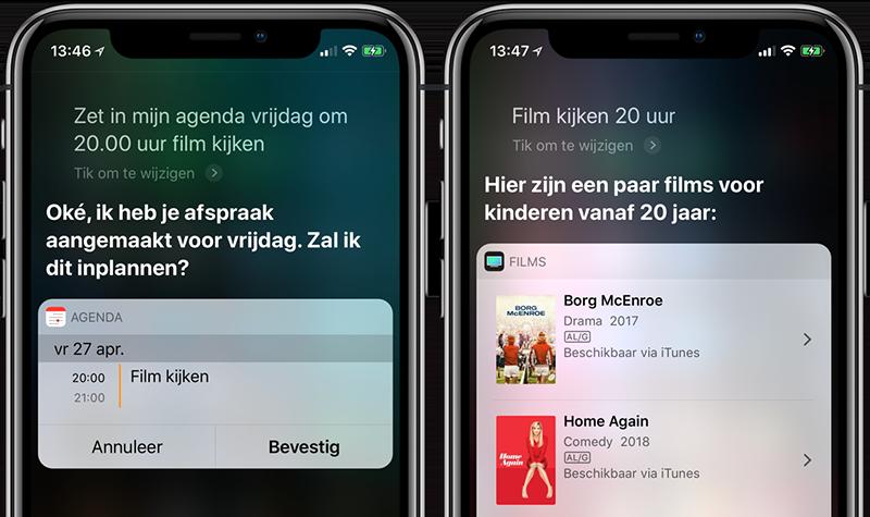 Siri afspraak maken