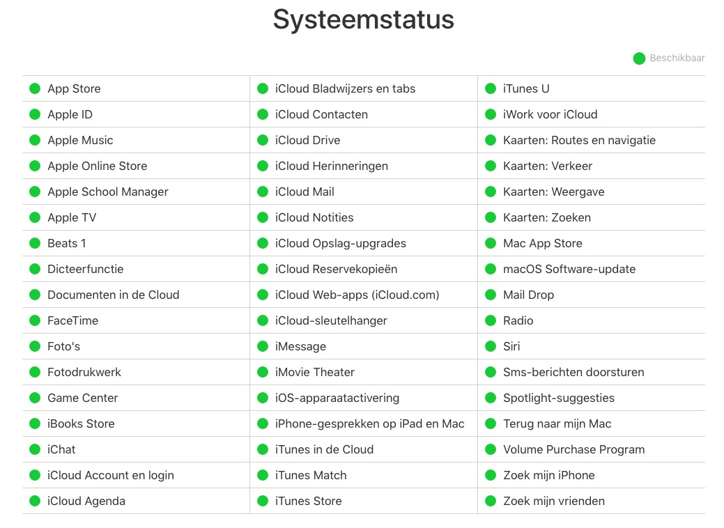 iCloud Storing