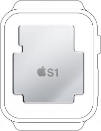 De Apple S1 in een Apple Watch