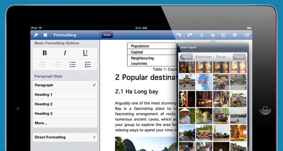 UX Write groot screenshot iPad
