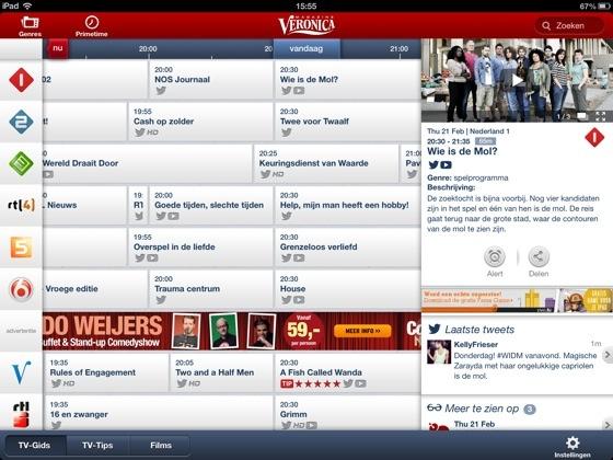 Veronica Magazine tv-gids app